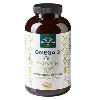 Huile de poisson aux oméga-3 -1000 mg - 400 gélules - Unimedica/