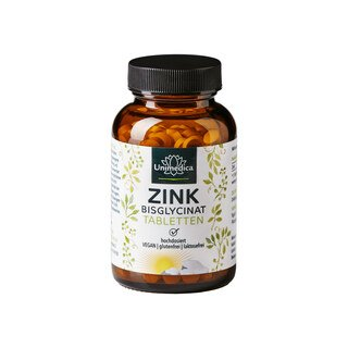: Zink Bisglycinat - 25 mg hochdosiert - 365 Tabletten - von Unimedica