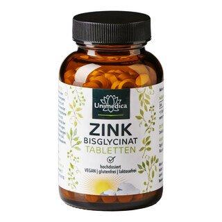 Zink Bisglycinat - 25 mg hochdosiert - 365 Tabletten - von Unimedica/