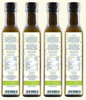 Bio Hanföl  1.000 ml (4 x 250 ml) - von Unimedica