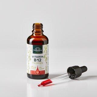Vitamin B12 Tropfen - 50 ml hochdosiert - VEGAN - von Unimedica