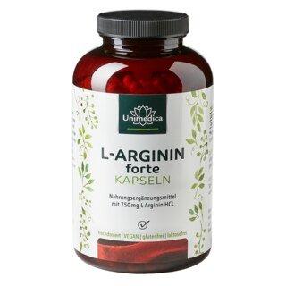 L-Arginin forte - 750 mg - 365 Kapseln - von Unimedica/