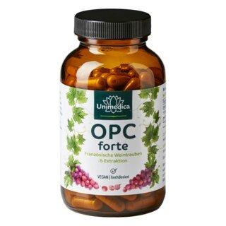 OPC forte - 800 mg d'extrait de pépins de raisin par dose journalière - 180 gélules  Unimedica/