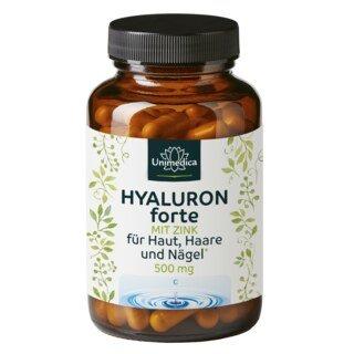 Hyaluron forte - 500 mg hochdosiert - 90 Kapseln - von Unimedica/