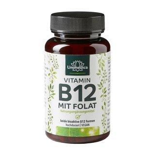 Vitamin B12 mit Folat - 180 Tabletten - von Unimedica/