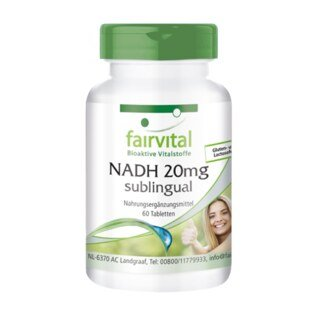 NADH 20 mg sublingual - Fairvital - 60 tablets/
