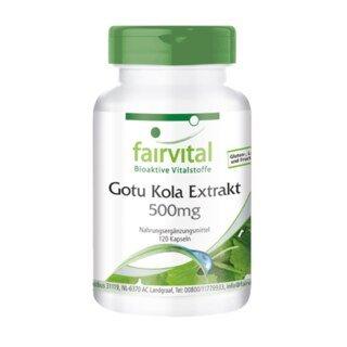 Gotu Kola Extrakt 500mg - 120 Kapseln