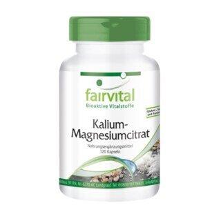 Citrate de potassium et de magnésium - Fairvital - 120 gélules/