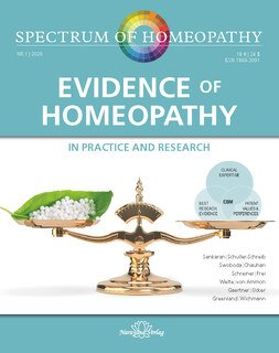 Spectrum of Homeopathy 2020-1, Evidence of Homeopathy/Narayana Verlag
