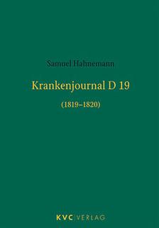 Krankenjournal D19 (1819-1820) - Mängelexemplar, Samuel Hahnemann