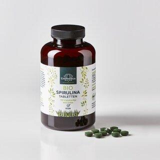 Spiruline BIO - 6000 mg hautement dosée - 500 comprimés - par Unimedica