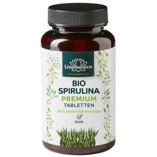 Bio Spirulina Premium - 6000 mg hochdosiert - 500 Tabletten - von Unimedica/