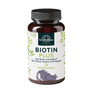 Biotin Plus mit Selen und Zink - hochdosiert - 365 Tabletten - von Unimedica/