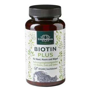 Biotin Plus with Selenium and Zinc - 365 tablets - from Unimedica/