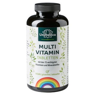 Multivitamin - 450 Tabletten - von Unimedica