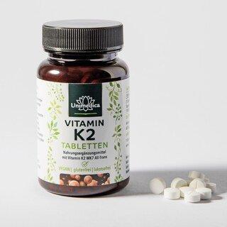 Vitamin K2 - 200 µg - MK7-All-trans - 120 Tabletten - von Unimedica