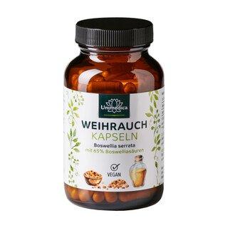 Weihrauch - 1600 mg pro Tagesdosis - hochdosiert - 140 Kapseln - von Unimedica/