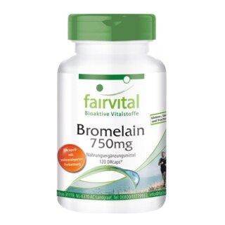 Bromelain 750 mg - 120 Kapseln (DRCaps®)/