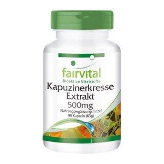 Kapuzinerkresse-Extrakt 500mg - 90 Kapseln/