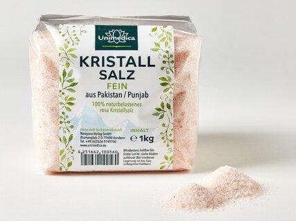 Kristallsalz (bekannt als Himalaya-Salz)  fein - 1 kg - von Unimedica