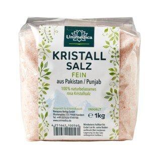 Kristallsalz (bekannt als Himalaya-Salz)  fein - 1 kg - von Unimedica/