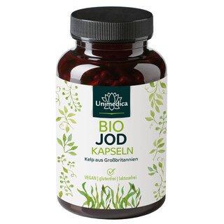 Bio Kelp Braunalgen - 150 µg natürliches Jod - 365 Kapseln - von Unimedica
