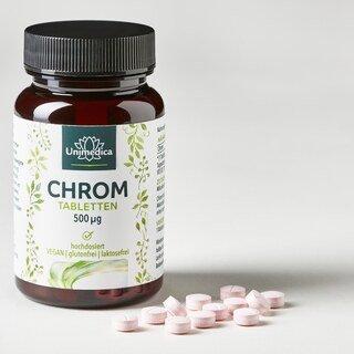 Chrom - 500 µg hochdosiert - 180 Tabletten - von Unimedica
