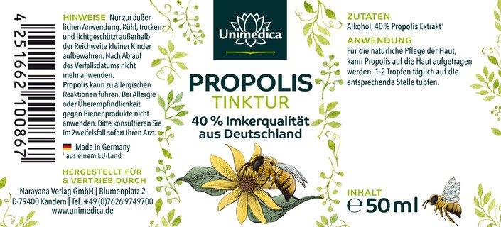 Propolis 40% Tinktur - 50 ml - von Unimedica - Topangebot