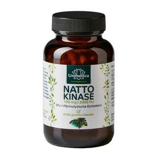 Nattokinase - 100 mg / 2.000 FU hochdosiert - 120 Kapseln - von Unimedica/