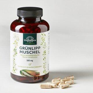 Grünlippmuschel - 500 mg hochdosiert - 300 Kapseln - von Unimedica