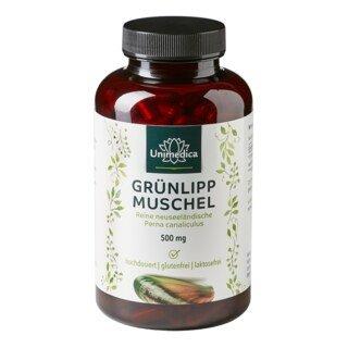 Grünlippmuschel - 500 mg hochdosiert - 300 Kapseln - von Unimedica/