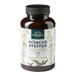 Mönchspfeffer Extrakt - 10 mg hochdosiert - 180 Kapseln - von Unimedica