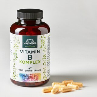 Vitamin B-Komplex - hochdosiert - 180 Kapseln - von Unimedica
