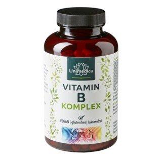 Vitamin B-Komplex - hochdosiert - 180 Kapseln - von Unimedica/