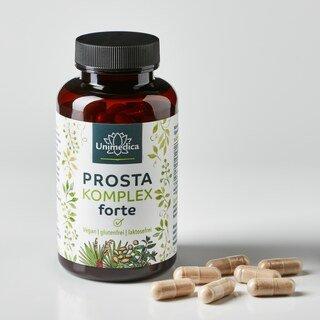 Prosta Komplex forte - gélules pour la prostate à base d'extrait de graines de courge, extrait de palmier nain, racine d'ortie - 90 gélules - par Unimedica