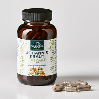 Johanniskraut Extrakt - 100 Kapseln - von Unimedica