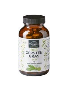 Bio Gerstengras - 500 mg - 180 Kapseln - von Unimedica/