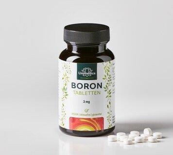 Boron - 3 mg - 365 Tabletten - von Unimedica