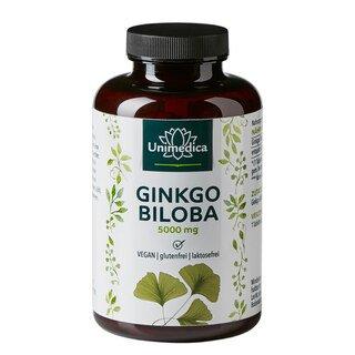 Ginkgo Biloba - 6.000 mg - 360 Tabletten - von Unimedica/
