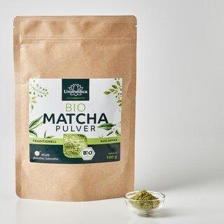 Bio Matcha Pulver - 100 g -  traditioneller japanischer Grüntee - von Unimedica
