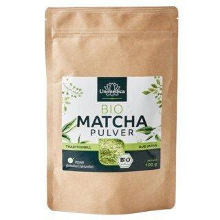 Matcha Pulver Bio - 100 g -  traditioneller japanischer Grüntee - von Unimedica/