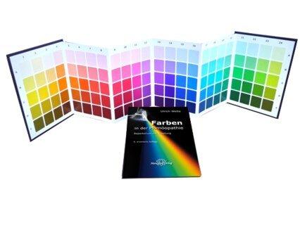 Farben in der Homöopathie - Set Farbtafeln & Textteil - Mängelexemplar/Ulrich Welte