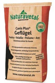 Canis Plus Geflügel für Hunde - 15 kg - Hundefutter - Naturavetal/