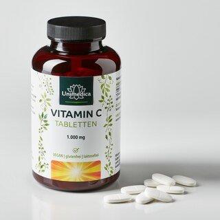 Vitamin C - 1000 mg - 180 Tabletten hochdosiert - von Unimedica