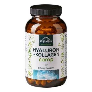 Hyaluron + Kollagen comp - mit Vitaminen und Mineralien - 180 Kapseln - von Unimedica/