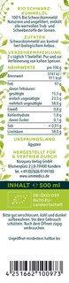 Schwarzkümmelöl ungefiltert - BIO - 500 ml - von Unimedica