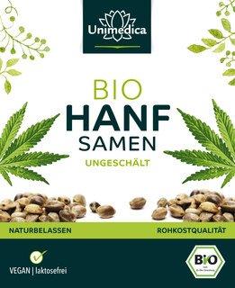 Hanfsamen Bio - ungeschält - naturbelassen -  500 g - von Unimedica