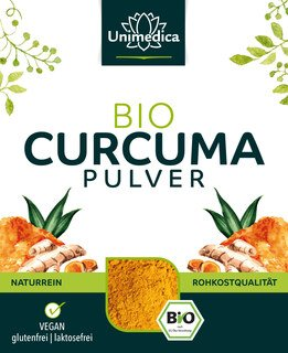 Curcuma Pulver - Bio - 500 g - von Unimedica