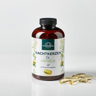 Nachtkerzenöl - 2.000 mg - mit 10 % Gamma-Linolensäure und natürlichem Vitamin E - 200 Softgelkapseln - von Unimedica