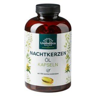 Nachtkerzenöl - 2.000 mg - mit 10 % Gamma-Linolensäure und natürlichem Vitamin E - 200 Softgelkapseln - von Unimedica/